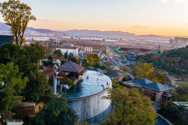 【新年輕度假】古滇溫泉山莊,在無邊泳池看日落