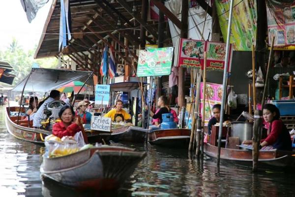 【新年轻度假】泰国曼谷丹嫩沙多水上集市